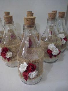 Glass Bottle Crafts, Diy Bottle, Bottle Art, Mason Jar Crafts, Mason Jar Diy, Jute Crafts, Diy Crafts, Decoupage Jars, Button Crafts