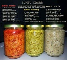 Bumbu Dasar ( Merah, kuning dan putih) - Sashy Little Kitchen: Home Cooking and Food Traveller Easy Cooking, Cooking Time, Cooking Recipes, Sambal Recipe, Homemade Ramen, Malay Food, Tasty, Yummy Food, Healthy Food