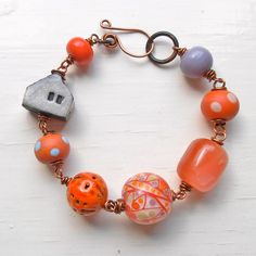 Idea for all the cool beads - handmade lampwork bracelet by songbeads