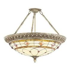 semi flush tiffany ceiling light | ... Garden Lamps Lighting & Ceiling Fans Chandeliers & Ceiling Fixtures