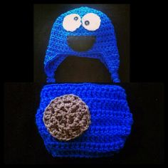 Cookie monster photo prop