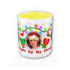 Custom Photo Kawaii Christmas Lights Coffee Mug #gifts #christmas #kawaii #cute #zazzle #jamiecreates1