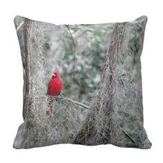 OLD FLORIDA RED CARDINAL Pillow