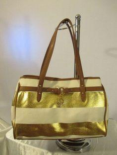 Tommy Hilfiger Handbag Shopper Color Gold 6934762 711 Retail Price $ 79.00…