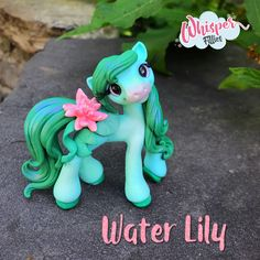 Water Lily Filly  By Whisper Fillies Unique handmade polymer clay horse, pony, unicorn and fantasy creatures. Visit my collection of adorable little  figurines on Facebook, Instagram and Etsy!  Whisperfillies.etsy.com