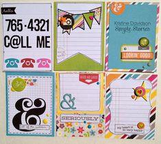 Filler Cards * Simple Stories * - Scrapbook.com - Simple Stories DIY collection.