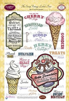 Thoughts of a Cardmaking Scrapbooker!: JustRite's New Release-The Scoop Vintage Labels Four