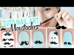 Nail art Moustache ♡ Movember + DIY - YouTube