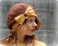 Slouch Beanie Beret Hat in Earthy Brown with by GreenTrunkDesigns, $38.00