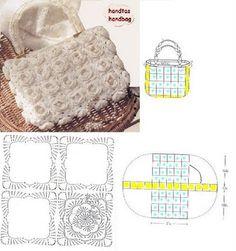 Crochet purse #1 with diagram