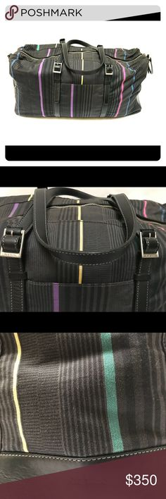 Paul Smith Malloroy Holdall bag Emerson Stripe Paul Smith weekender. Perfect for weekend trips or small carryon. EUC - includes dust bag and shoulder strap both pictured. Paul Smith Bags Travel Bags