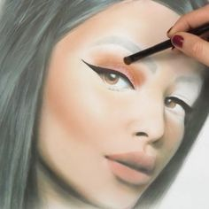 Face chart, Make up Drawing, Drawing with makeup, Face chart blank,Mac Face Chart,Mac Facecharts-LIZA KONDREVICH