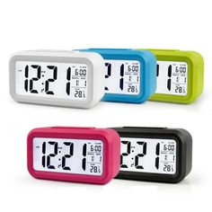 Saat Dijital LED Erteleme Elektronik Çalar Saat Arka Işık Zaman Takvim Termometre