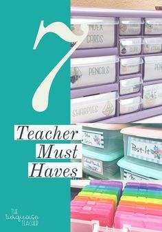 Top 7 Teacher Classroom Tricks, Tips and Must haves. Use these tips to get more organized and clutter free. Teacher tool box, dry erase sentence strips, task card box and many more tips and tricks.