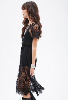 Sheer Lace Dress   FOREVER 21 - 2000058307