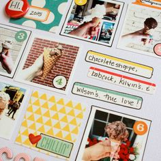 Make a scrapbook layout in 30 minutes or less - the challenge is to stick with the plan!
