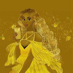 Beyonce Hold Up Lemonade Art