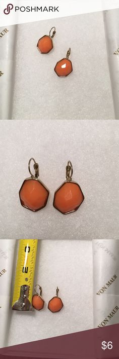 SALE Orange Earrings They have clasp backs attached and have only been worn a couple times. Charming Charlie Jewelry Earrings