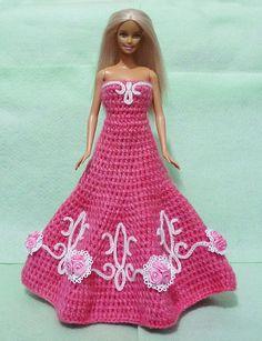 Gehäkelte Barbie Dress 09 von HakoAmigurumi auf Etsy https://www.etsy.com/de/listing/120061227/gehaumlkelte-barbie-dress-09