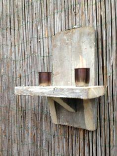 Steigerhouten hangelement voor binnen en buiten