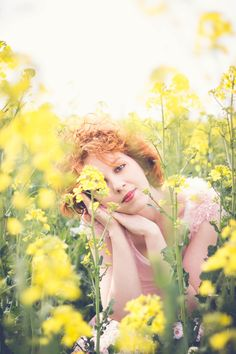 #womenphotography #portrait #rapeseed #yellow #summer #redhair #gingerpeople #redlips