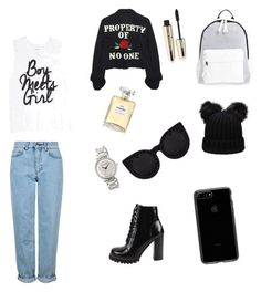 """Bez naslova #6"" by andelaorbanic ❤ liked on Polyvore featuring Topshop, Jeffrey Campbell, Poverty Flats, High Heels Suicide, MICHAEL Michael Kors, L'Oréal Paris, Chanel and Delalle"