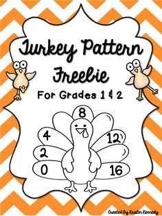 Turkey Skip Counting/Number Patterns *FREEBIE*