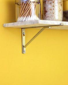 martha stewart instrux on diy shelf. use a marble threshold piece as a shelf. Decor, Marble Shelf, Diy Shelves, Decor Design, Shower Shelves, Shelves, Radiator Shelf, Home Decor, Bathroom Design