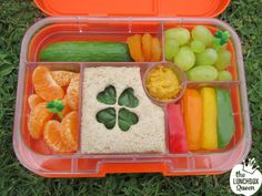 Yumbox lunchbox & accessories all available in NZ f… St Patricks Day bento lunch. Yumbox lunchbox & accessories all available in NZ from www. Bento Box Lunch For Kids, Kids Packed Lunch, Kids Lunch For School, Healthy Lunches For Kids, Toddler Lunches, Lunch Snacks, Kids Meals, Healthy Snacks, Bento Lunchbox