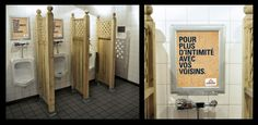 Urinal advertising boards