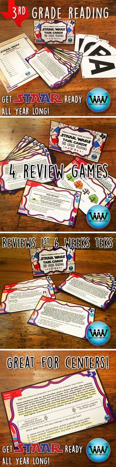 No more waiting until the last minute to prepare for the test!  Get STAAR ready all year long!  We're extremely happy to introduce our new 3RD GRADE READING STAAR TASK CARDS!  This is the 1st set of 6, and each set includes 24 task cards which are aligned with the TEKS & CCSS for that 6 weeks.  Instructions included for 4 methods of review: task cards, SCOOT, Quiz-Quiz-Trade, and Be the Teacher. Full preview available.  $3.50
