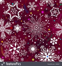 Abstract Patterns: Seamless purple christmas pattern with snowflakes and colorful stars (vector) Purple Christmas, Christmas Paper, Christmas Time, Xmas, Snowflake Wallpaper, Christmas Wallpaper, Winter Wallpaper, Christmas Scenes, Christmas Images