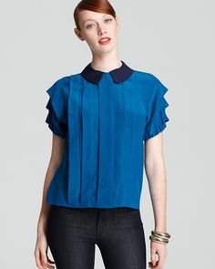 MARC BY MARC JACOBS Top - Pleated Color Block |