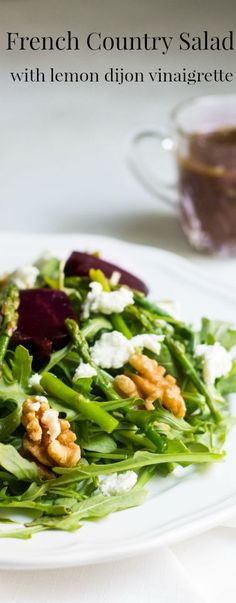 French country salad with lemon dijon vinaigrette. Recipe via MonPetitFour.com
