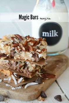 magic bars recipe.  You will crave these!!