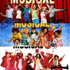 High School Musical, High School Musical 2, High School Musical 3 Senior Year