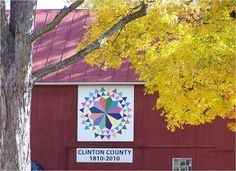 Farmer's Delight - #53 on our Clinton County Bicentennial Barn Quilt Trail.  After many owners, the Wisecups purchased this 1890's barn in 2005.  The colorful design, representing the different seasons, adorns one of the few barns within the City of Wilmington, Ohio.  Sponsor: Daryl & Danna Allen.