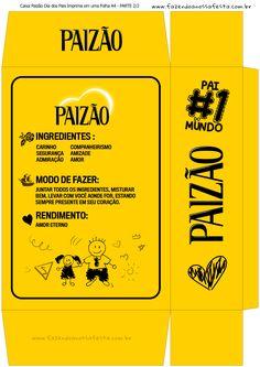 Uau! Veja o que temos para Caixa Paizao Presente Dia dos Pais - Amarelo Menina 2-222