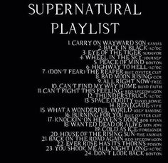 I LOVE the music from Supernatural. It's the kind I grew up listening to. I'll always love classic rock.