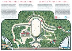 "Illustration for Ling Magazine June issue about Barcelona's ""Park Güell"" Gaudi, Parc Guell, Barcelona, Art Nouveau Architecture, City Photo, Cruise, Park, World, Behance"