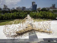 Pulse Pavilion Bamboo Sculpture by the University of St. Joseph, Macau - China