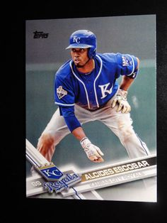 2017 Topps Series 1 #338 Alcides Escobar Kansas City Royals Baseball Card #Topps #KansasCityRoyals