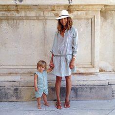 Summer Travel dressing- shirt dress, panama, tan sandals