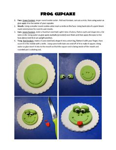 Froggie Cupcake Topper--so making something like these for youngest niece