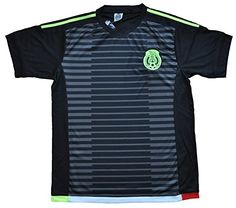 e5d083a4f Amazon.com   Mexico Away Soccer Jersey Black Size Medium and Large (medium)    Sports Fan Soccer Jerseys   Sports   Outdoors