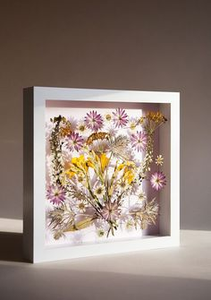 DIY Pressed Flower Wall Art - this would be gorgeous in a HUGE shadowbox frame