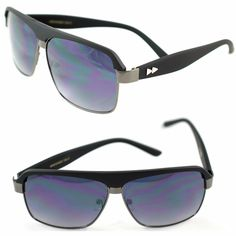 a09ea6f7edd Designer Metal Matte Black Aviator w  Spike Stud Rivets Fall Fashion  Sunglasses  RetroRewind