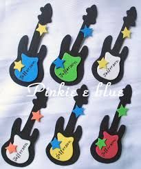 Resultado de imagem para molde de guitarra em eva