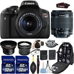 #super This 33Rd Street Deluxe Bundle Includes : #Canon EOS Rebel T6i DSLR Camera with Canon EF-S 18-55mm f/3.5-5.6 IS STM Lens. 2.2x Telephoto Lens offers a 2.2...