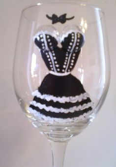 Hand Painted Wine Glass  Madein-mn.com  $15.00